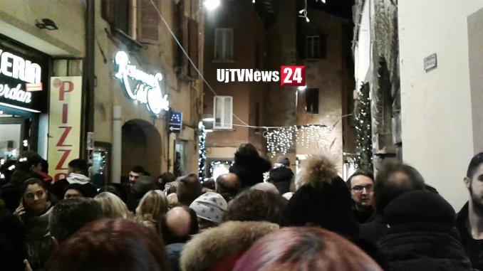 Paurosa calca a Perugia dopo traversata Funambolo