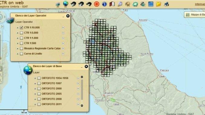 Cartografie regionali messe a disposizione per PA sono 60 mila foto