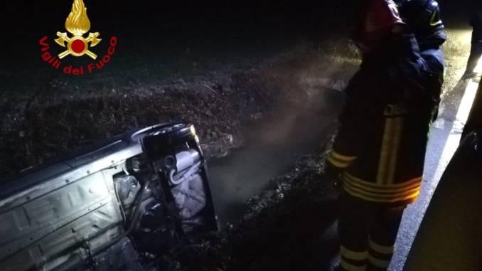Incidente stradale con feriti a Madonna del Gambero a Gualdo Tadino