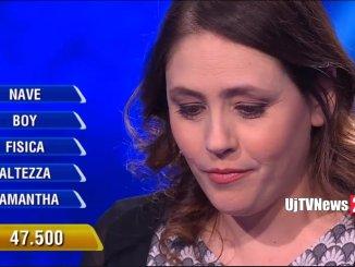 Federica Sannella ancora campionessa all'Eredità, ma non indovina alla ghigliottina