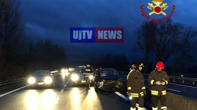 Incidente stradale sulla E45 nei pressi di Città di Castello, una persona ferita