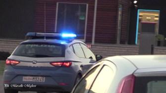Assalto bancomat BNL Polizia e vigilanza auto polizia (4)