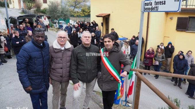 Fontignano, due vie intitolate a Maria Teresa Benedetti e Bruschetti.