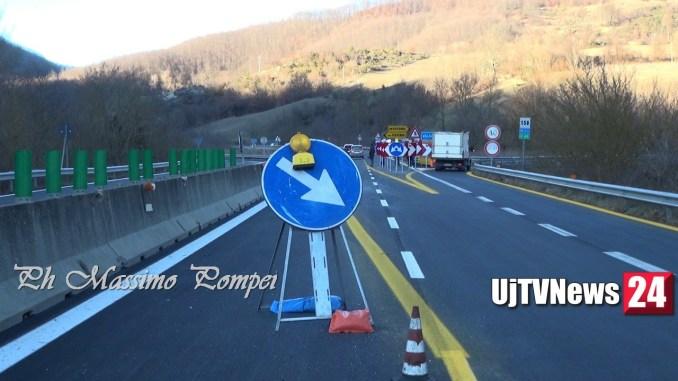E45 viadotto Puleto protesta e presidio dei lavoratori a Sansepolcro, la strada va riaperta! Foto