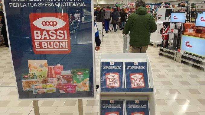 Coop Centro Italia giù prezzo di oltre 200 prodotti a marchio Coop