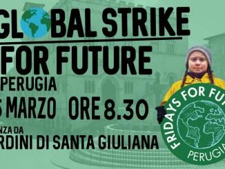 """Tutti in piazza a Perugia per la """"Marcia per il Clima"""", 15 marzo 2019"""