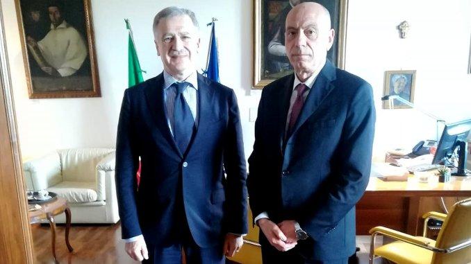Procuratore generale, Fausto Cardella, incontra il nuovo questore di Perugia, Mario Finocchiaro