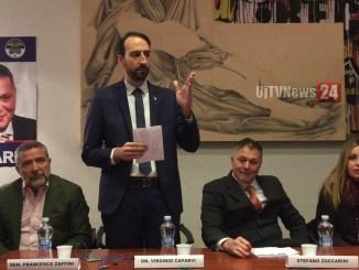 Virginio Caparvi, Lega, incontra amici e colleghi amministratori a Nocera