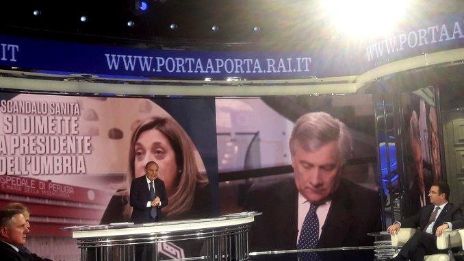 Scandalo sanità, Porta a Porta, dimissioni Marini, c'è Stefano Candiani