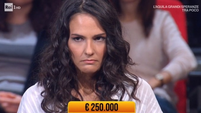 Valentina Dionigi ai Soliti Ignoti vince 125 mila euro è di Bastia Umbra