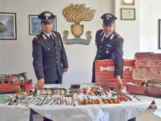 Ladro rubava attrezzature da cantiere denunciato per furto