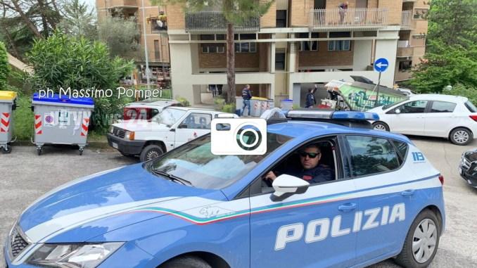 Operaio cade dal quinto piano, è grave, è accaduto in via Calindri a Perugia, le foto del luogo