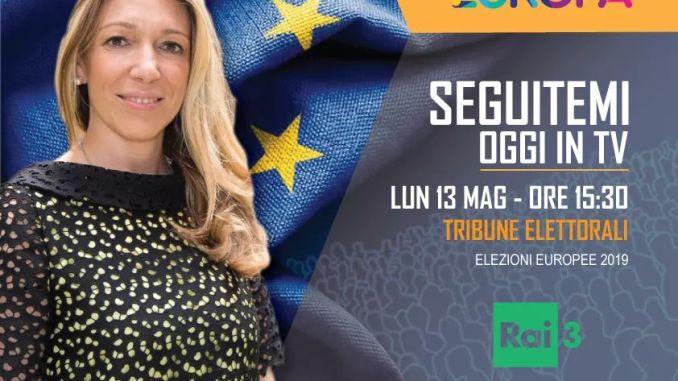 Elezioni Europee, Carlotta Caponi a Tribune Elettorali su Rai 3