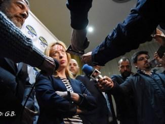 Giorgia Meloni a Perugia per sostenere candidatura sindaco Andrea Romizi