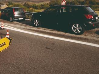 Cantiere sulla Flaminia tra Foligno e Spoleto chiuso tratto carreggiata nord
