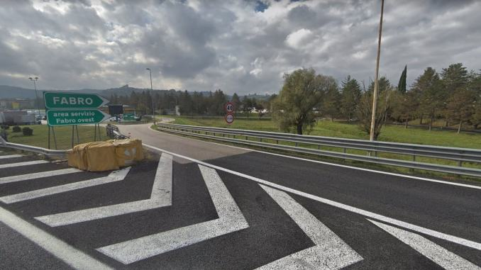 A1 Milano Napoli, chiusura per due notti uscita stazione di Fabro
