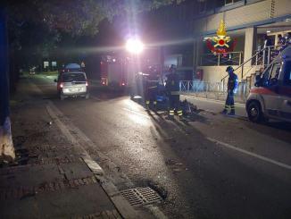 Incidente stradale nella notte in via Sicilia a Perugia, una persona ferita
