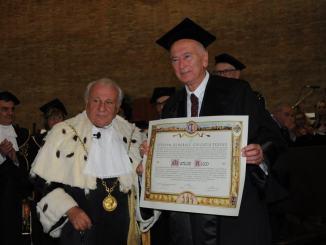 Laurea Magistrale Honoris Causa in Ingegneria Meccanica a Mario Ricco