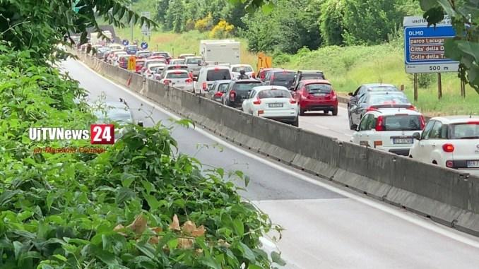 Viadotto Genna, riaperto il cantiere, traffico deviato sulla carreggiata sud