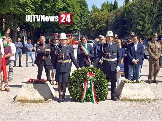 Celebrata a Perugia la ricorrenza del XX Giugno, Corone di alloro ai Monumento ai Caduti