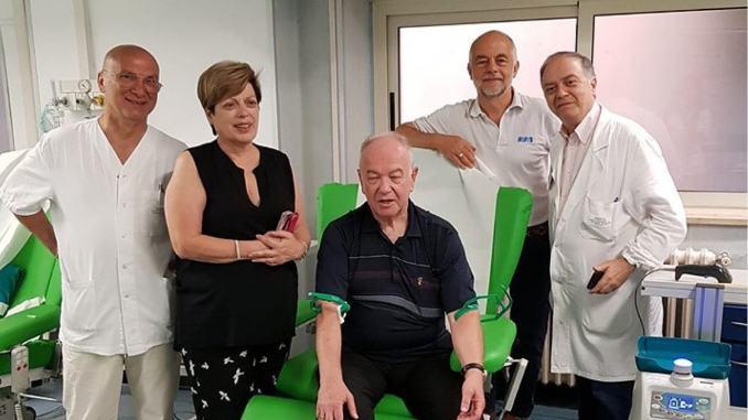 A quasi 70 anni donati 60 litri sangue 166 donazioni dal 1968, è Mauro Tosi