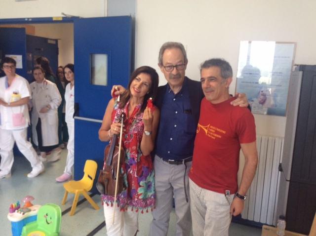 Anche Paolo Fresu ha donato musica ai pazienti dell'ospedale