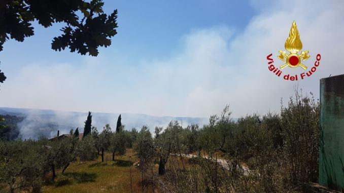 Umbria in fiamme, a fuoco la zona dell'Orvietano a Monteleone d'Orvieto e Castel Viscardo