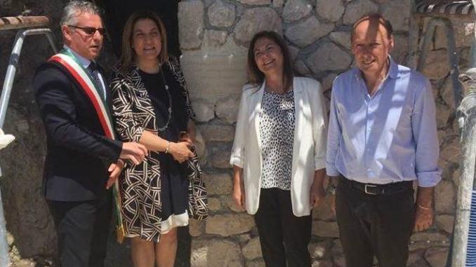 Catiuscia Marini, prima visita a Norcia dopo dimissioni da presidente