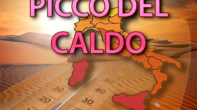 Picco del caldo temperature anche di 40 gradi, ecco le regioni più a rischio