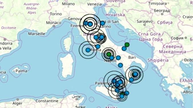 Terremoto in Italia 23 agosto 2019, le ultime scosse registrate – Dati Ingv