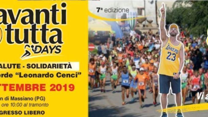 Avanti tutta days 29 agosto presentazione 11esima edizione a Perugia