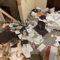 Raid nella casa dell'imprenditore Caporicci, tutto devastato