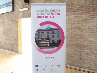 Accesa fibra ottica a Castel Giorgio, connessione di un gigabite al secondo
