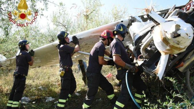 Recuperato aereo ultraleggero, cadde a giugno a Gualdo Cattaneo |Video