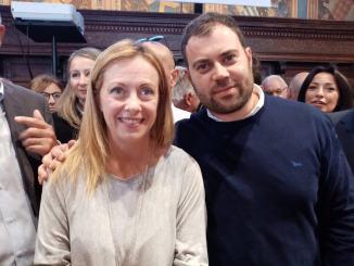 Emanuele Fiorini con Fratelli d'Italia, orgogliosamentecon Giorgia Meloni