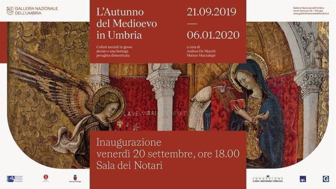 """Galleria, 20 settembre, inaugurazione """"L'Autunno del Medioevo in Umbria"""""""
