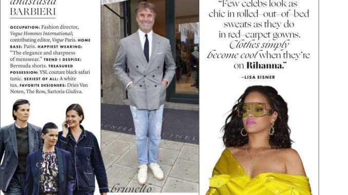 Brunello Cucinelli The best dressed 2019 del magazine Vanity Fair Usa