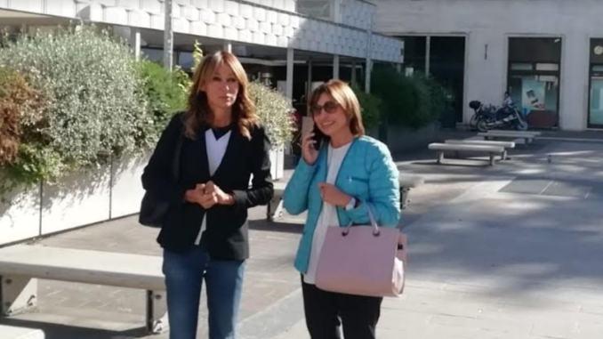 Paola Agabiti Urbani e Donatella Tesei insieme a Terni