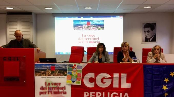 Verso le elezioni regionali, la Cgil di Perugia invita a guardare ai territori