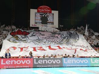 Sir Safety Conad volley perde contro Allianz Milano, zero a tre