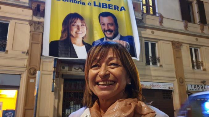 Tesei è presidente della regione, stravince con il 57,55%, la Lega il 37%