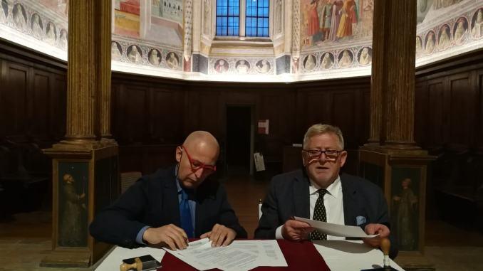 Firmata la convenzione tra Sistema Museo e l'Archivio di Stato di Perugia