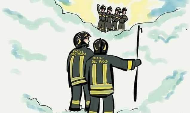 Poesia del dolore dei Vigili del Fuoco: «Fatti avanti vecchio pompiere...»