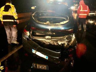 Tamponamento su E45 due auto tre feriti, uno dei quali bimba di 4 anni