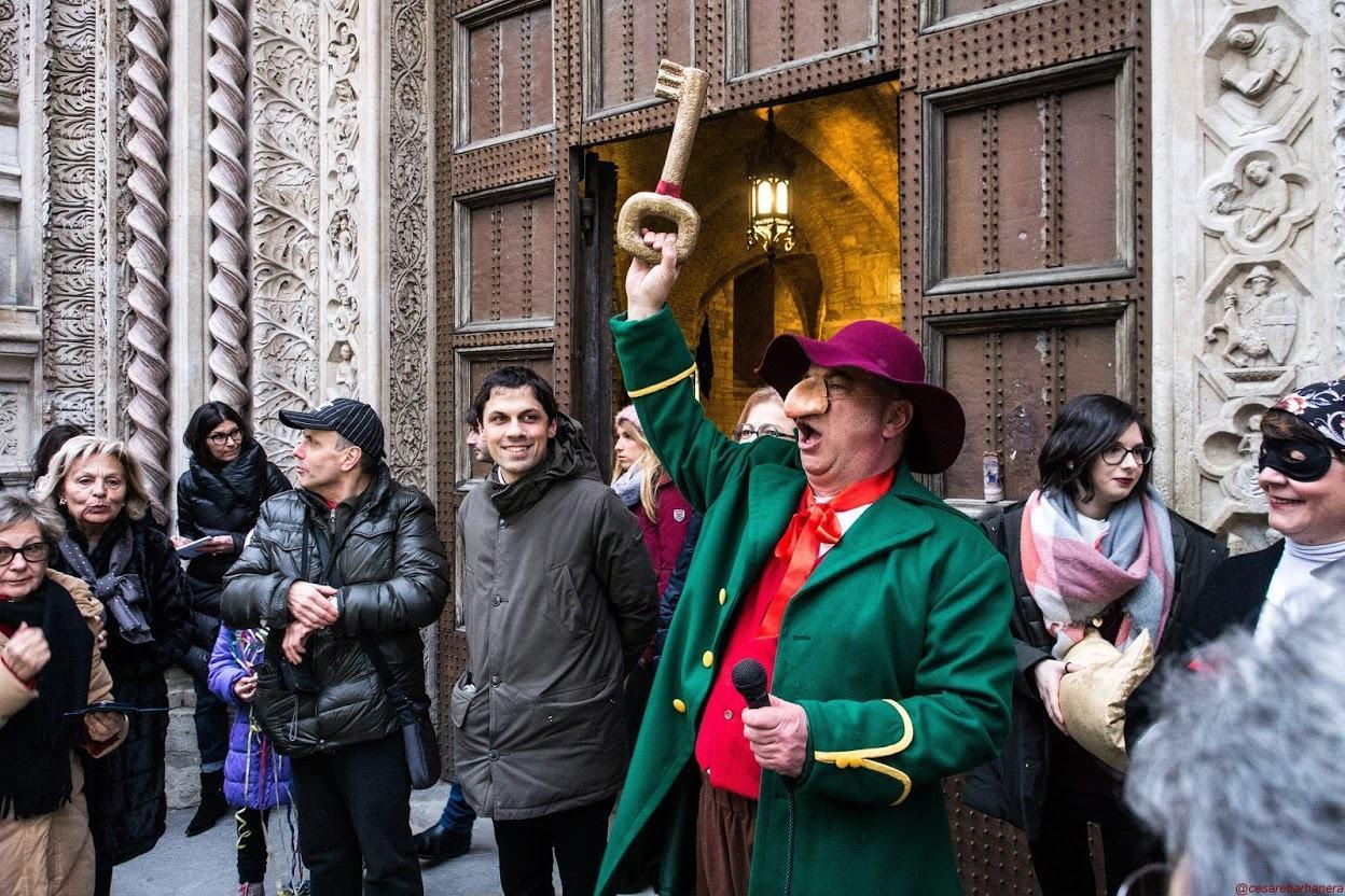 Il Bartoccio arriva in città per l'entrata del Carnevale, sabato 1 febbraio