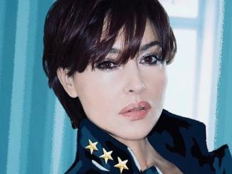Nuovo taglio di capelli per Monica Bellucci, Natale in Umbria