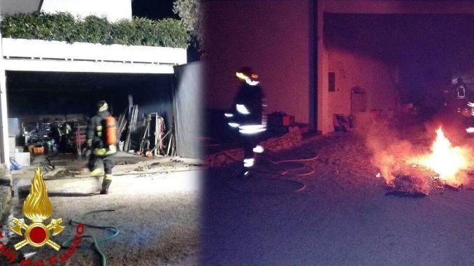 Incendio garage nella notte a San Marco di Perugia, nessun ferito