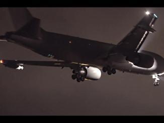 Coronavirus areo militare Boeing KC767 va a riprende gli italiani a Wuhan