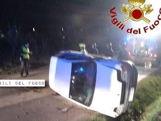 Incidente stradale in via dei Loggi a Ponte San Giovanni di Perugia