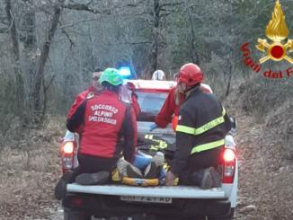 Motociclista cade nel bosco di Santa Restituta nel Ternano, è in ospedale